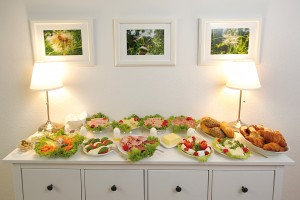 Leckeres Buffet in der Tagespflege
